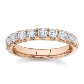 Divine 14k Rose Gold Diamond Wedding Band 1 ct. tw.