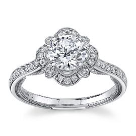 Verragio 18Kt White Gold Diamond Engagement Ring Setting 1/3 cttw
