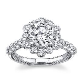 Verragio 18k White Gold Diamond Engagement Ring Setting 1 ct. tw.