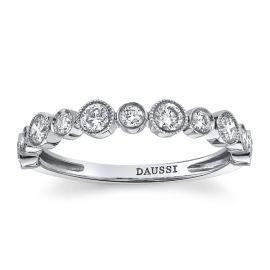 Henri Daussi 14k White Gold Diamond Wedding Band 1/2 ct. tw.