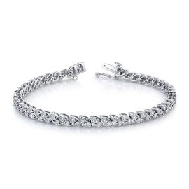 14k White Gold Bracelet 1 ct. tw.