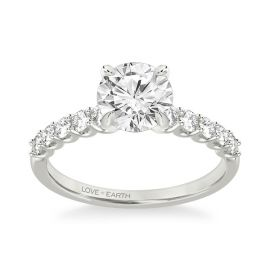 Love Earth 14Kt White Gold Diamond Engagement Ring Setting 3/8 ct. tw