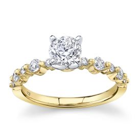 Utwo 14k Yellow Gold and 14k White Gold Diamond Engagement Ring 1 ct. tw.