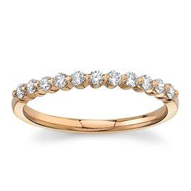 Divine 18Kt Rose Gold Diamond Wedding Band 1/3 cttw
