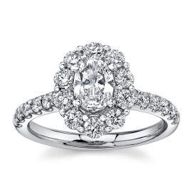 Eternalle Lab-Grown 14Kt White Gold Diamond Engagement Ring 1 1/2 cttw