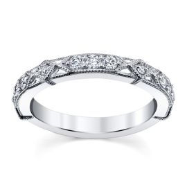 RB Signature 14k White Gold Diamond Wedding Band 1/3 ct. tw.