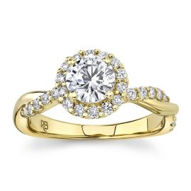 RB Signature 14k Yellow Gold Diamond Engagement Ring Setting 3/8 ct. tw.