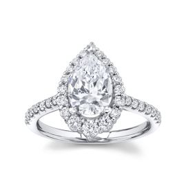 LG - Love Earth 14k White Gold Diamond Engagement Ring Setting 1/2 ct. tw.