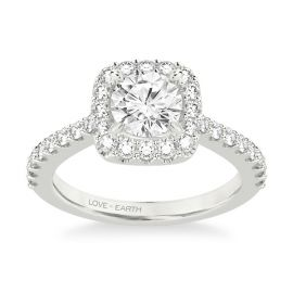 Love Earth 14Kt White Gold Diamond Engagement Ring Setting 5/8 ct. tw