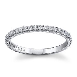 Michael M. 18Kt White Gold Diamond Wedding Band 1/3 cttw