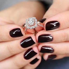 Eternalle Lab-Grown 14Kt Rose Gold Diamond Engagement Ring 1 1/2 cttw