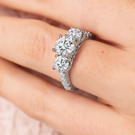 Eternalle Lab-Grown 14Kt White Gold Diamond Engagement Ring 2 1/4 cttw