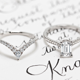 Fancy Cut Engagement And Wedding Rings