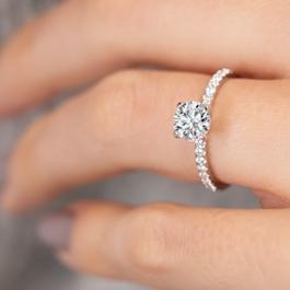 Coast Diamond 14k White Gold Diamond Engagement Ring Setting 1/7 ct. tw.