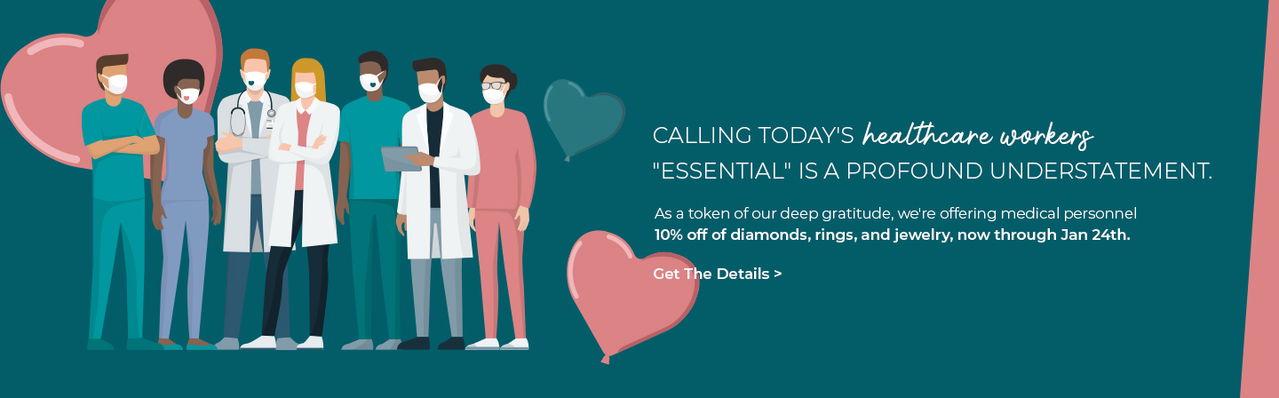 Discount On Jewelry and Diamond and  Rings For Health Care Workers
