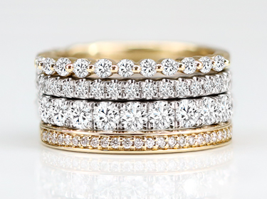 Create A Stack of Distinctive Engagement Rings