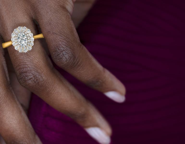 Poem 14k Yellow Gold Diamond Engagement Ring 7/8 ct. tw.