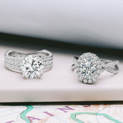 Rings With Sparkling Diamond
